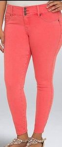 Torrid Coral jeggings ankle length new